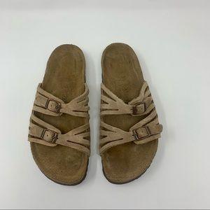 Birkenstock Granada Nubuck Leather Sandals